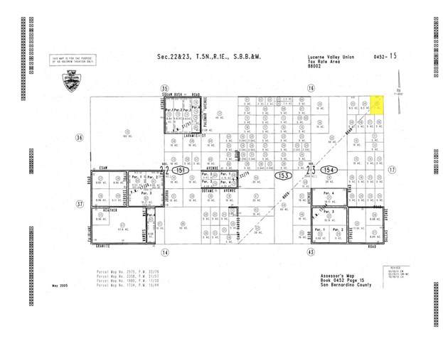 0 Camp Rock, Lucerne Valley, CA 92356 (#301875783) :: Whissel Realty