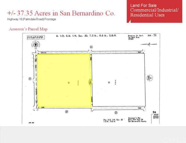 37 Ac +/-, Unincorporated, CA 92371 (#302391734) :: Tony J. Molina Real Estate