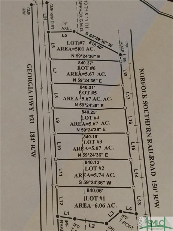 0 21 Highway, Springfield, GA 31329 (MLS #201440) :: The Arlow Real Estate Group