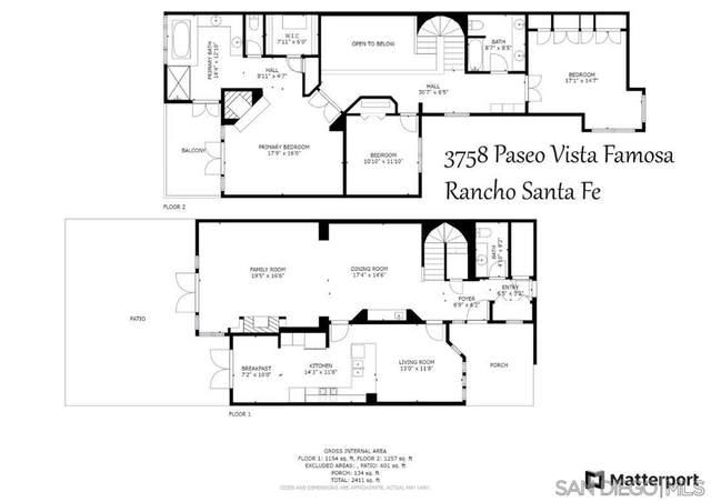 3758 Paseo Vista Famosa, Rancho Santa Fe, CA 92091 (#210020556) :: Cochren Realty Team | KW the Lakes