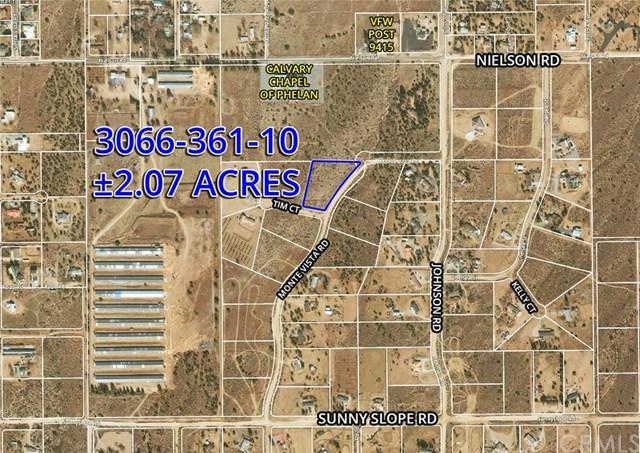 8 Monte Vista Rd, Phelan, CA  (#OC19033937) :: Z Team OC Real Estate