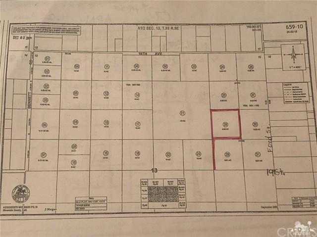 Ford Ave & 19th Ave, Desert Hot Springs, CA 92241 (#219015153DA) :: Z Team OC Real Estate