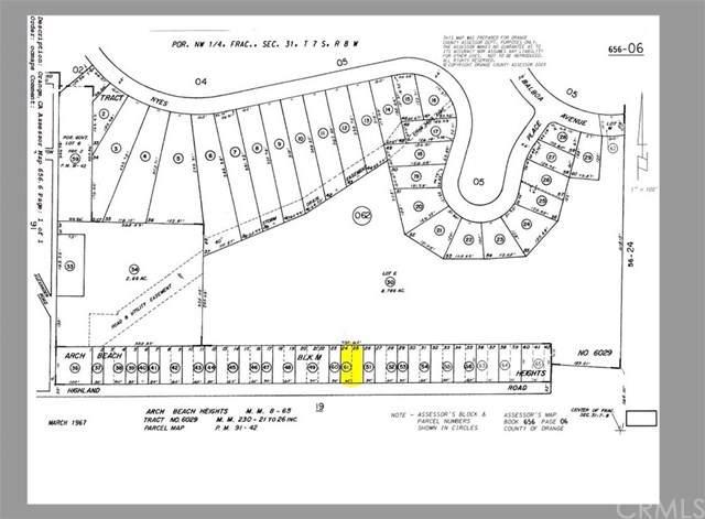 0 Highland, Laguna Beach, CA 92651 (#OC20003978) :: RE/MAX Empire Properties