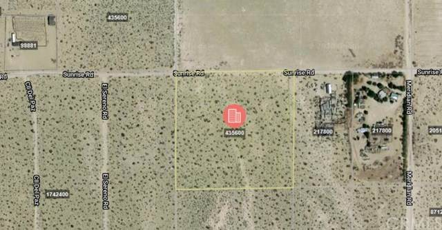 0 Sunrise Road, Lucerne Valley, CA 92356 (#TR20007243) :: RE/MAX Masters