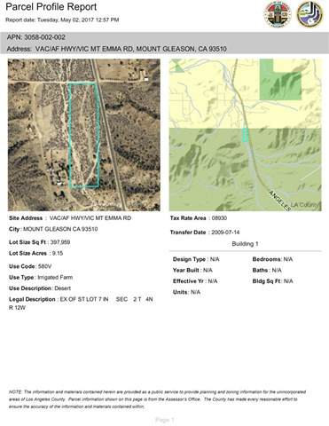 0 Vac/Af Hwy/Vic Mt Emma Road, Acton, CA 93510 (#SR20060372) :: The Houston Team | Compass