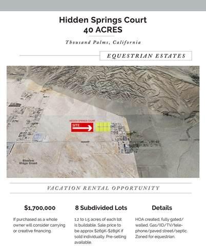 0 Hidden Springs Ct, Thousand Palms, CA 92276 (#219049443PS) :: Crudo & Associates