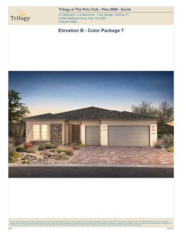 50860 Monterey Canyon (Lot 5007) Drive, Indio, CA 92201 (#219052192DA) :: Steele Canyon Realty