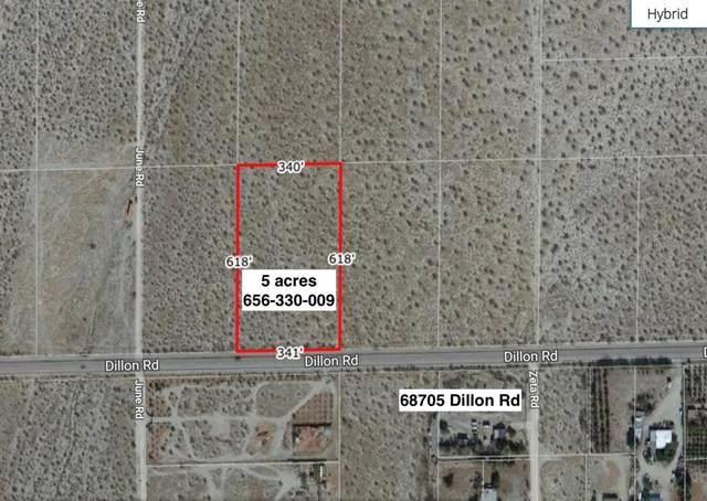 5-Acres Dillon Road, Desert Hot Springs, CA 92241 (#219053433DA) :: Z Team OC Real Estate