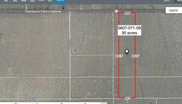 30 Acres On Hwy 62 Near Sunview Avenue, Joshua Tree, CA 92252 (#219057932DA) :: Necol Realty Group