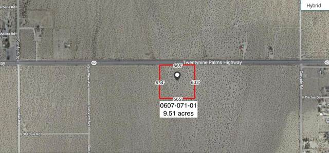 9 .5 Acres On Hwy 62 Near Sunview Avenue, Joshua Tree, CA 92252 (#219057984DA) :: RE/MAX Empire Properties