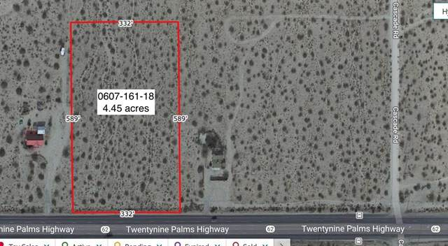 4 .45 Acres Hwy 62 W. Of Cascade Road, Joshua Tree, CA 92252 (#219057989DA) :: RE/MAX Empire Properties
