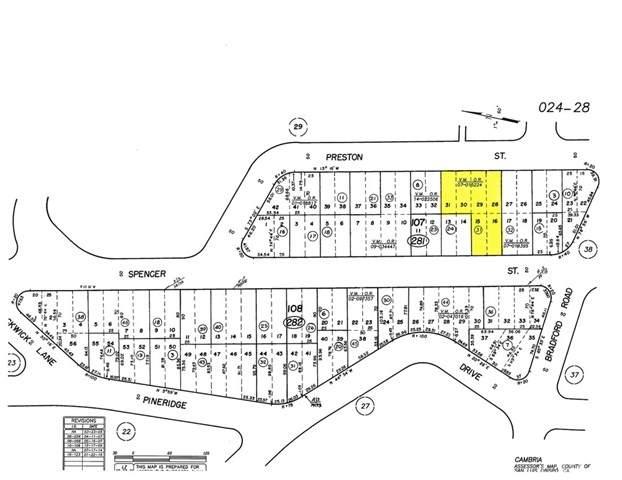 0 Preston Street, Cambria, CA 93428 (MLS #SC21078567) :: CARLILE Realty & Lending