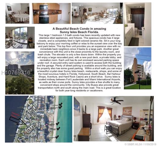 200 178th Dr #709, Sunny Isles Beach, FL 33160 (MLS #H10769316) :: Green Realty Properties