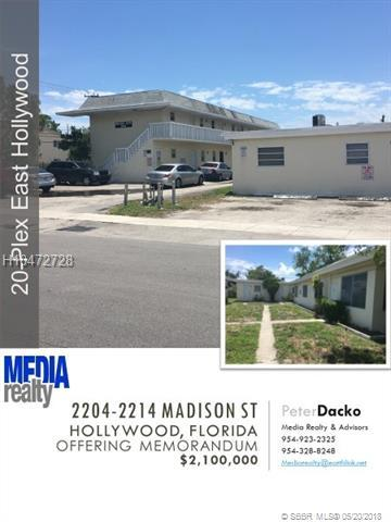 2204 Madison St, Hollywood, FL 33020 (MLS #H10472728) :: Green Realty Properties