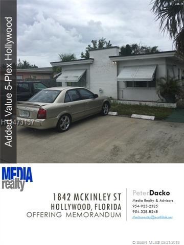 1842 Mckinley St, Hollywood, FL 33020 (MLS #H10473157) :: Green Realty Properties