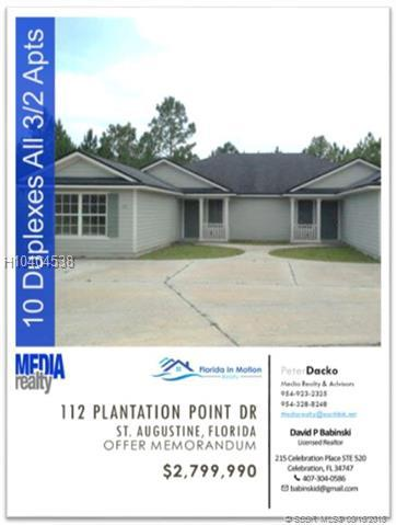112 Plantation Point Dr, Other City Value - Out Of Area, FL 32084 (MLS #H10404538) :: Green Realty Properties