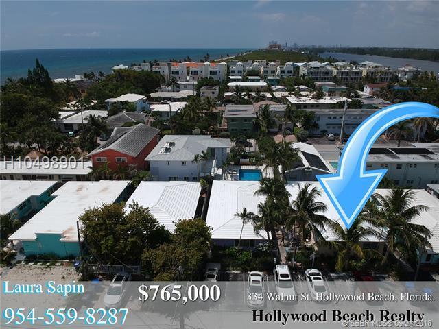 334 Walnut St, Hollywood, FL 33019 (MLS #H10498901) :: Green Realty Properties