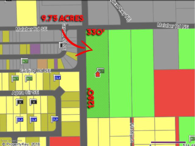 9.75 Acres Malabar Road, Malabar, FL 32950 (MLS #812579) :: Pamela Myers Realty