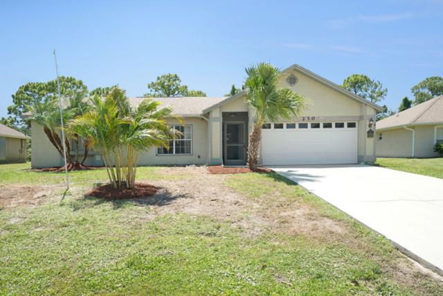 270 Vin Rose Circle SE, Palm Bay, FL 32909 (MLS #846129) :: Pamela Myers Realty