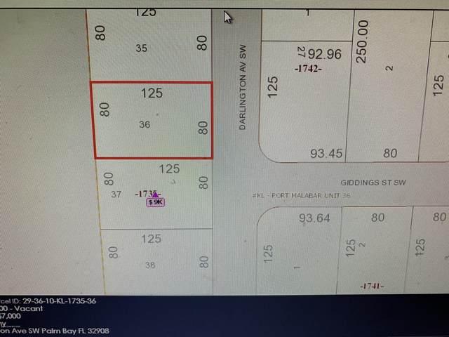 858 SW Darlington Avenue SW, Palm Bay, FL 32908 (MLS #885994) :: Blue Marlin Real Estate
