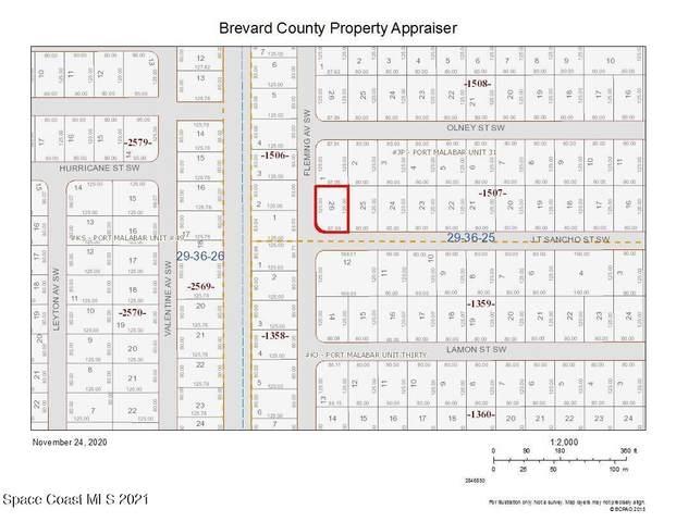 Corner Fleming And Jt Sancho Street, Palm Bay, FL 32908 (MLS #916243) :: Blue Marlin Real Estate
