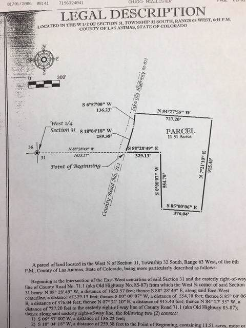 Unassigned C.R. 71.1 11.51 AC, Trinidad, CO 81082 (MLS #20-25) :: Big Frontier Group of Bachman & Associates
