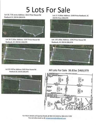 Lots Price House Rd, Roebuck, SC 29376 (MLS #278080) :: Prime Realty