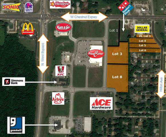 000 W Chestnut Expwy, Lots 3P, 4-5-6, Springfield, MO 65802 (MLS #60166887) :: Sue Carter Real Estate Group