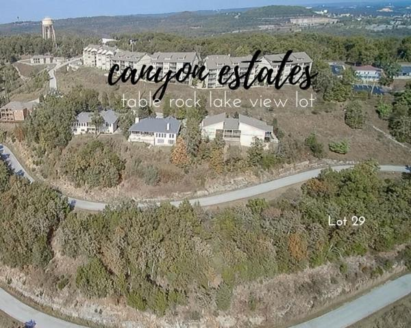 Lot 29 Canyon Estates, Branson, MO 65616 (MLS #30355160) :: United Country Real Estate
