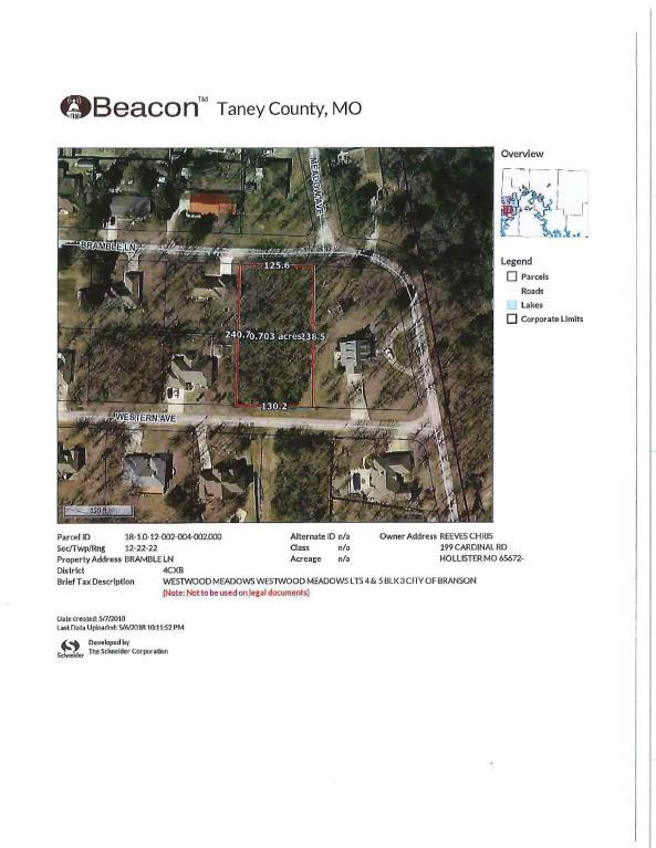 Tbd Bramble Lane, Branson, MO 65616 (MLS #60108189) :: Sue Carter Real Estate Group