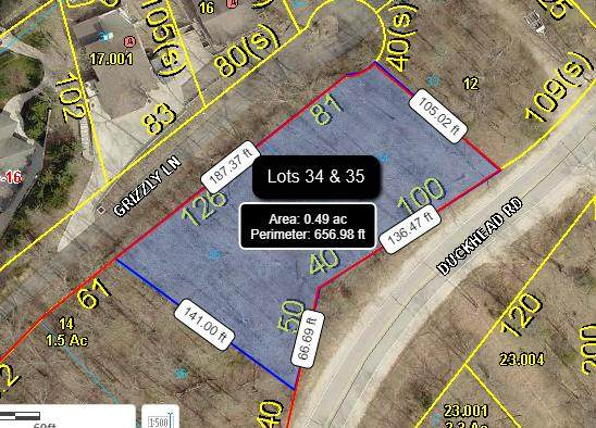 000-Lots 34,35 Grizzly Lane, Lake Ozark, MO 65049 (MLS #60175842) :: Winans - Lee Team | Keller Williams Tri-Lakes