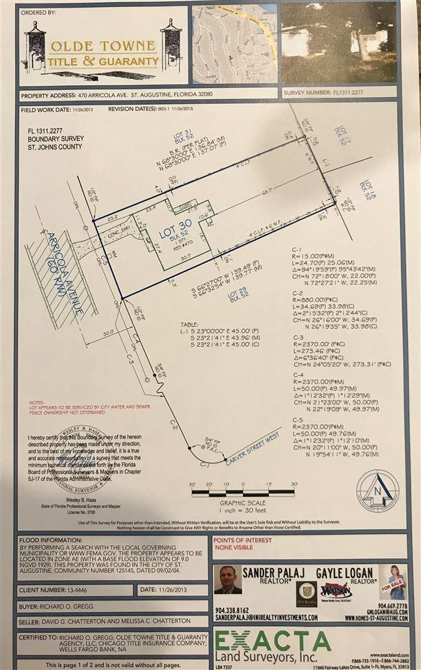 470 Arricola, St Augustine, FL 32080 (MLS #178803) :: St. Augustine Realty