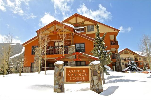 105 Wheeler Circle #205, Copper Mountain, CO 80443 (MLS #S1008145) :: Resort Real Estate Experts