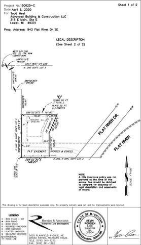 943 Flat River Drive SE, Lowell, MI 49331 (MLS #20029874) :: JH Realty Partners