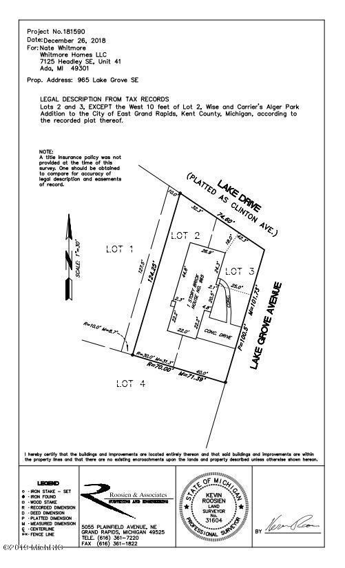965 Lake Grove Avenue SE, Grand Rapids, MI 49506 (MLS #19014690) :: Matt Mulder Home Selling Team