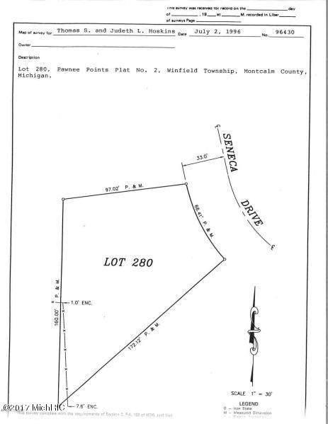 280 Seneca Court, Howard City, MI 49329 (MLS #21002321) :: Keller Williams Realty | Kalamazoo Market Center