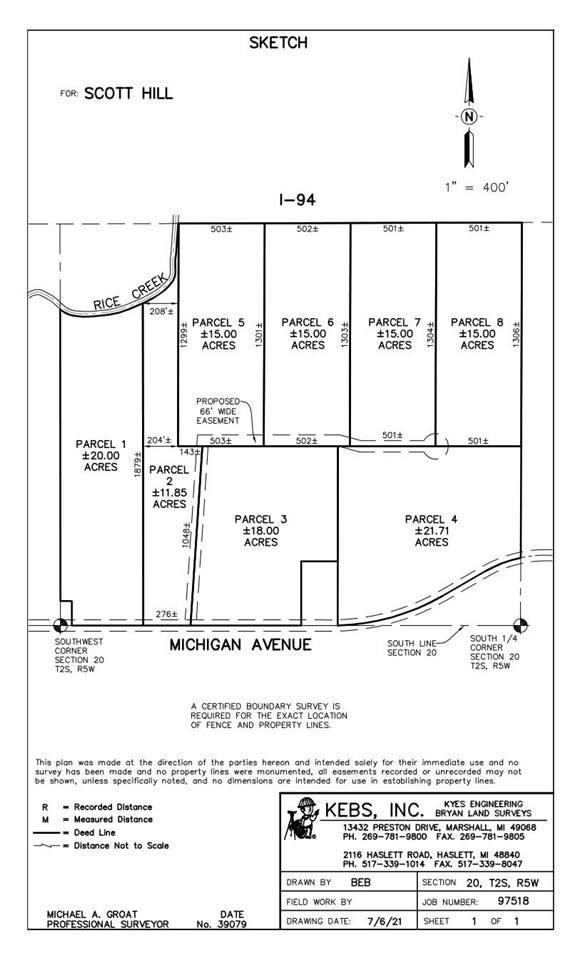 V/L Parcel E Michigan Ave, Marshall, MI 49068 (MLS #21034410) :: Deb Stevenson Group - Greenridge Realty