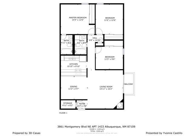 3861 Montgomery Boulevard NE #1433, Albuquerque, NM 87109 (MLS #984446) :: Campbell & Campbell Real Estate Services