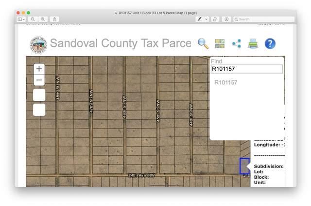 Block 33, Lot 5, Unit 1, Rio Rancho, NM 87144 (MLS #992940) :: Campbell & Campbell Real Estate Services