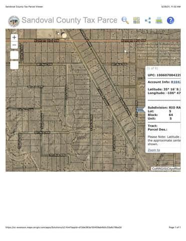 0 Unit 5, Block 64, Lot 5, Rio Rancho, NM 87144 (MLS #993182) :: Campbell & Campbell Real Estate Services
