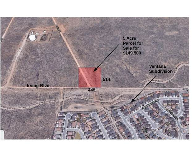 5 acres on Irving Boulevard NW, Rio Rancho, NM 87144 (MLS #993756) :: Campbell & Campbell Real Estate Services
