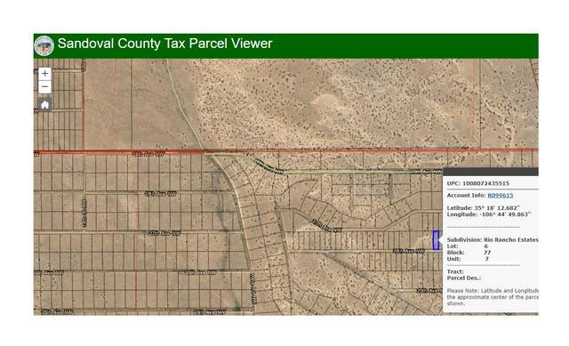 Rio Rancho Estates NE, Rio Rancho, NM 87144 (MLS #995023) :: Sandi Pressley Team