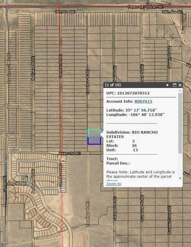 2500 Excalibur Street NE, Rio Rancho, NM 87144 (MLS #998162) :: Campbell & Campbell Real Estate Services