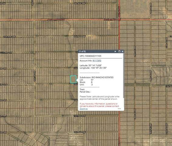 Lot 57 13th Avenue SW, Rio Rancho, NM 87124 (MLS #995805) :: Campbell & Campbell Real Estate Services