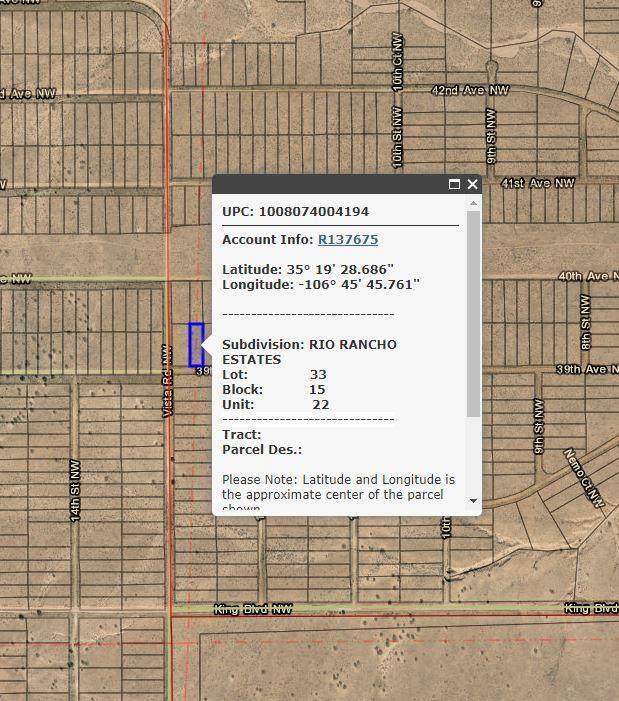 39th Avenue NW, Rio Rancho, NM 87144 (MLS #979771) :: The Buchman Group