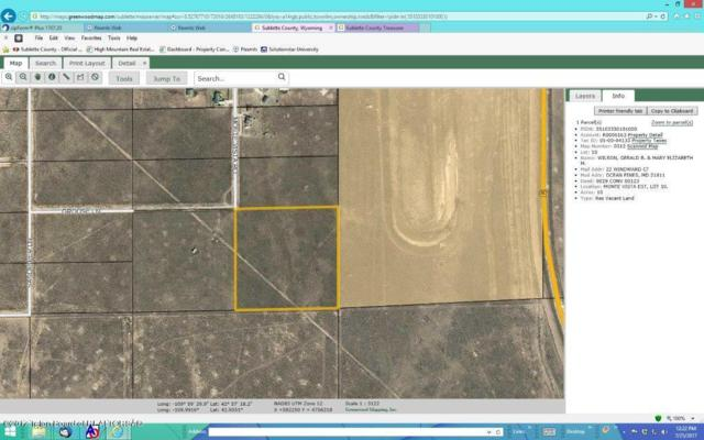 LOT 10 Monte Vista Rd, Cora, WY 82925 (MLS #17-2243) :: Sage Realty Group