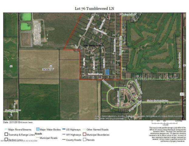 LOT 76 Tumbleweed Ln, Star Valley Ranch, WY 83127 (MLS #18-353) :: West Group Real Estate