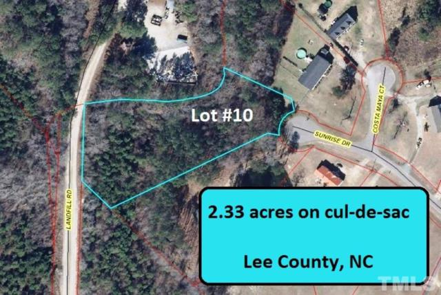 Lot 10 Sunrise Drive, Sanford, NC 27330 (#2168085) :: The Abshure Realty Group