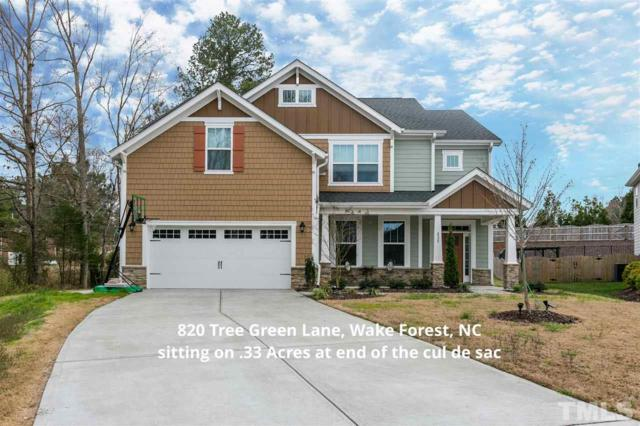 820 Tree Green Lane, Wake Forest, NC 27587 (#2180102) :: The Jim Allen Group