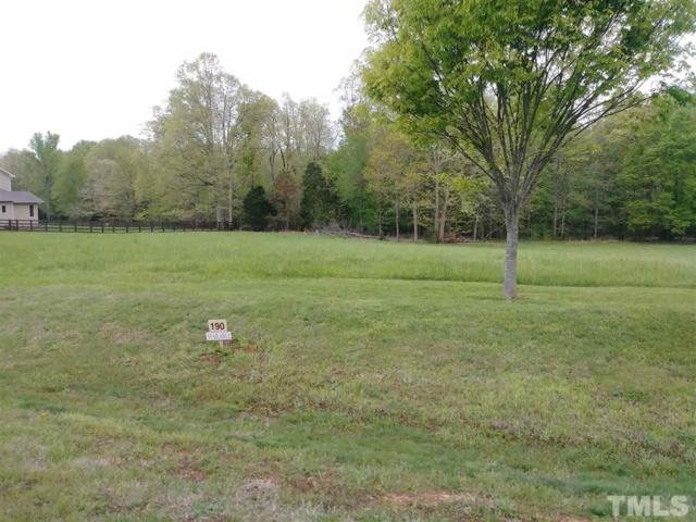 Lot 190 Fox Hill Farm Drive, Hillsborough, NC 27278 (#2188371) :: M&J Realty Group